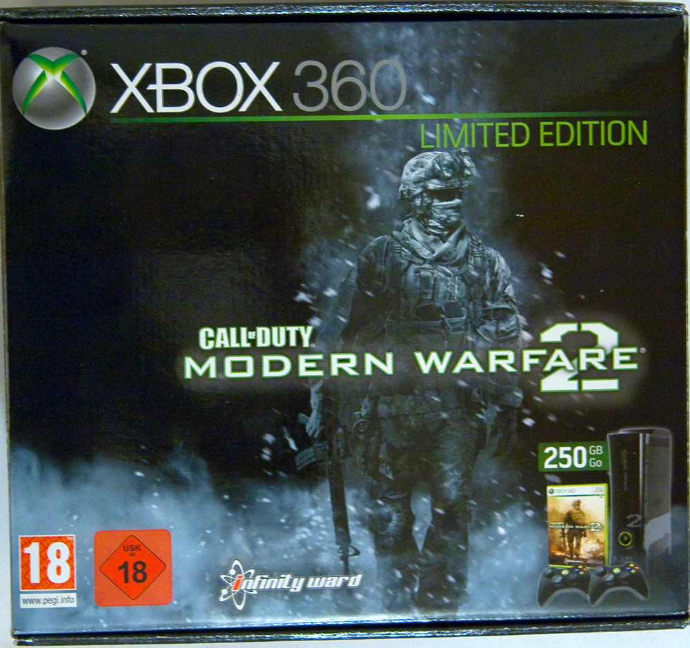 Xbox 360 Modern Warfare 2 Bundle Box